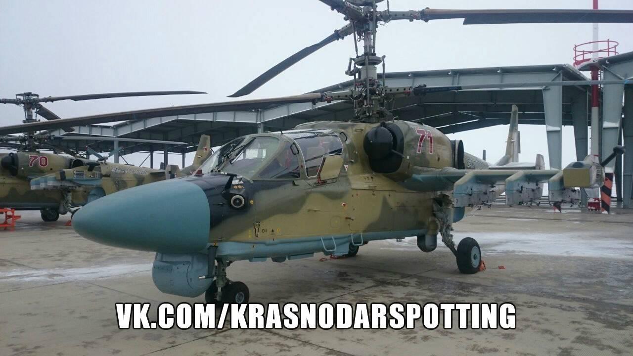 Ввертолётный полк наКубани поступила партия Ка-52 «Аллигатор»