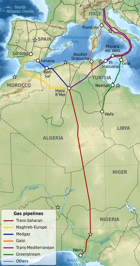 Газопровод Нигерия-Марокко-Европа и сюрпризы от 'Газпрома'