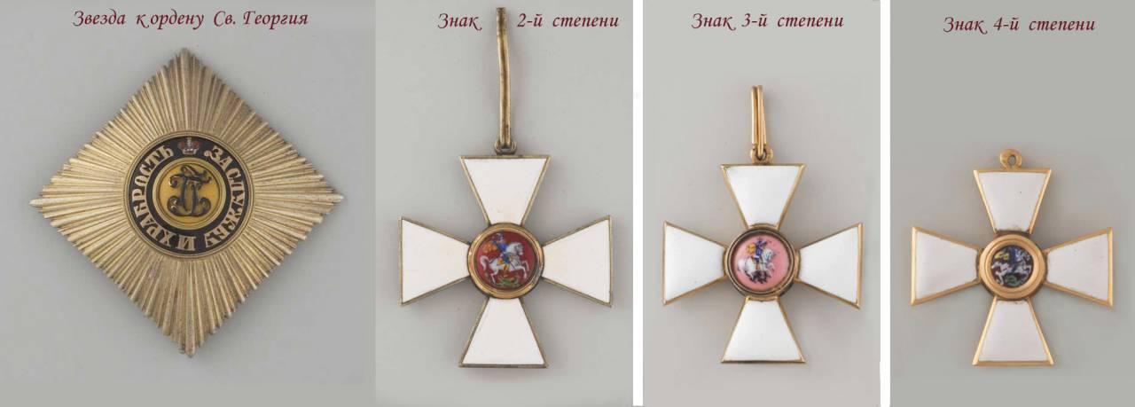 Кутузов получил орден святого георгия второй степени
