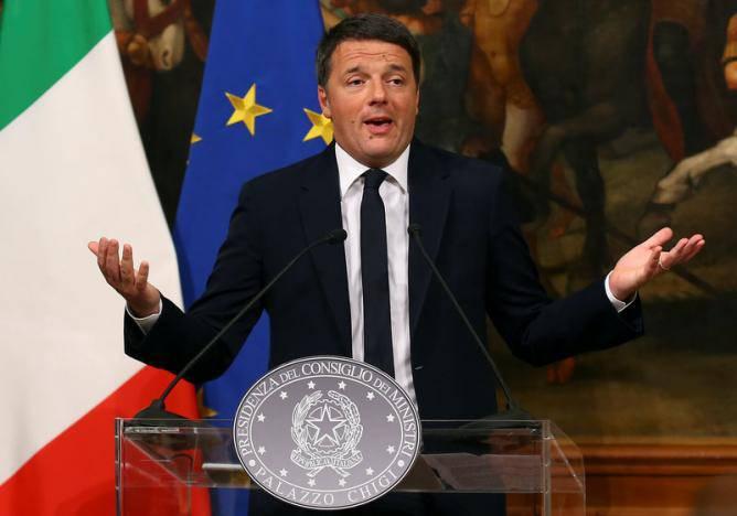 Ренци уходит в отставку после провального для него референдума в Италии