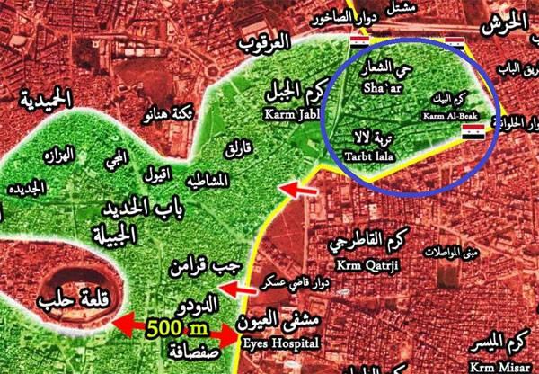 "Боевикам на юго-востоке Алеппо ""светят"" два котла"