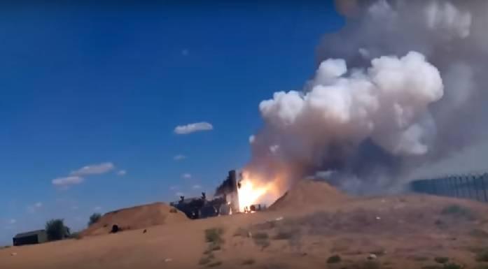 Видео с неудачным пуском ракеты комплекса С-300
