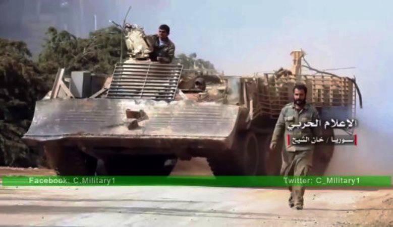 Усовершенствованный ВТ-55 в Сирии