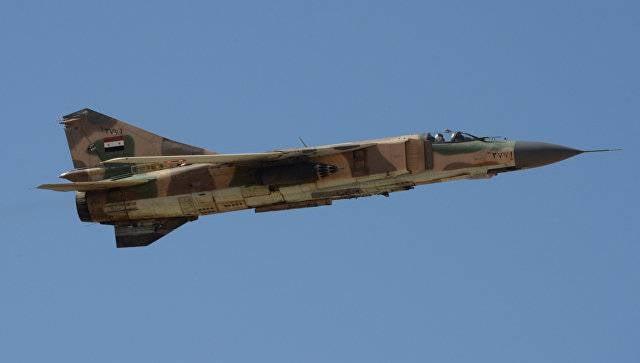 МиГ-23 сирийских ВВС разбился на востоке провинции Хомс