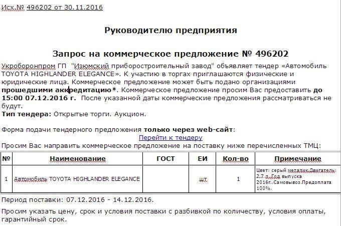 Глава «Укроборонпрома»: рабочим — неоплачиваемые отпуска, директорам — новые джипы «Toyota»
