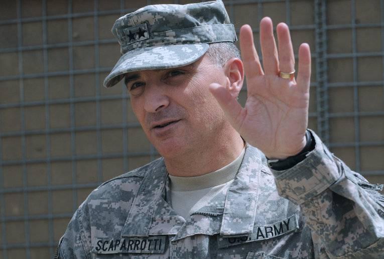 Генерал Скапаротти посетил зону АТО в Донбассе