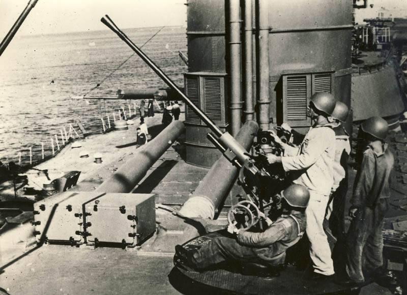 Ответы на вопросы. Орудия ПВО на башнях главного калибра линкоров