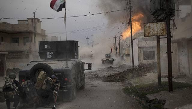 Иракская армия пытается взять район Мосула