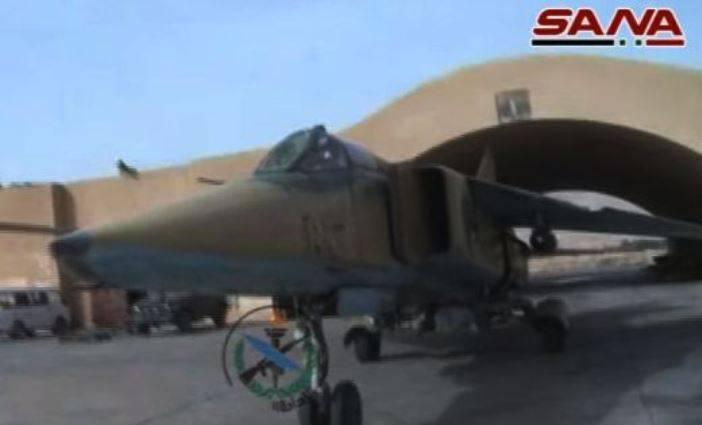 Истребители-бомбардировщики МиГ-23БН в Сирии