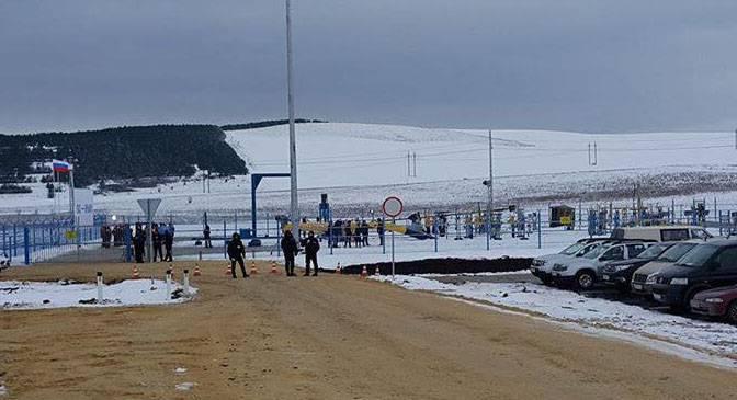 В Крым пошёл газ с материковой части России