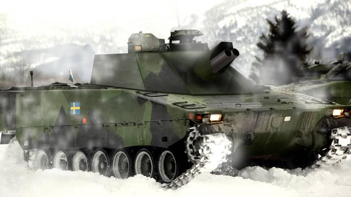 Шведская армия выбрала самоходные минометы Mjölner