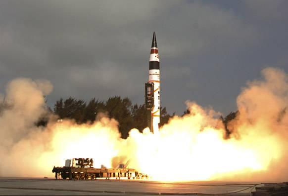ВИндии испытали баллистическую ракету