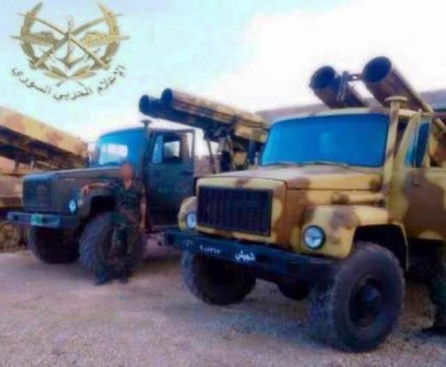В Сирии российский ГАЗ-3308 стал базой для РСЗО «Вулкан»