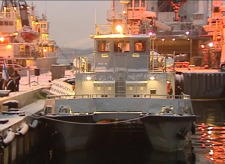 Модульный катер «Спасатель Кононенко» вошёл в состав Северного флота
