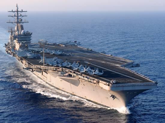Ударная группа американских кораблей, находившаяся на Ближнем Востоке, взяла курс на США