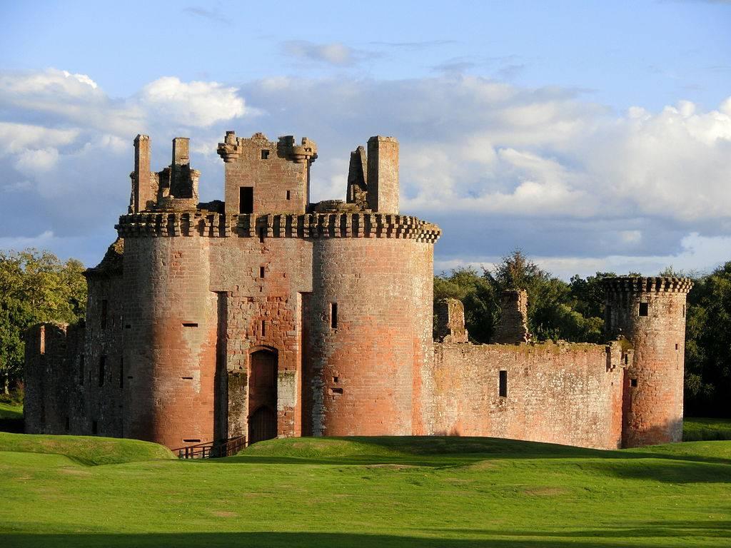 Обои Caerlaverock Castle, scotland, руины, замок. Разное foto 12