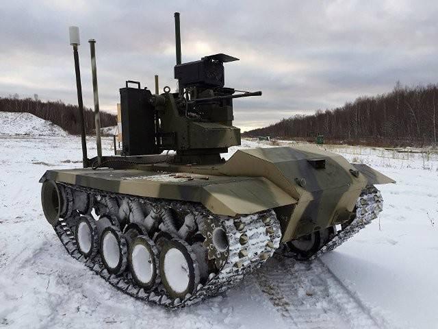 Роботизированные комплексы «Соратник» и «Нерехта» в учебном бою (видео)