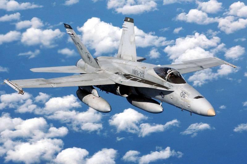 Американский истребитель F/A-18 разбился в Японии