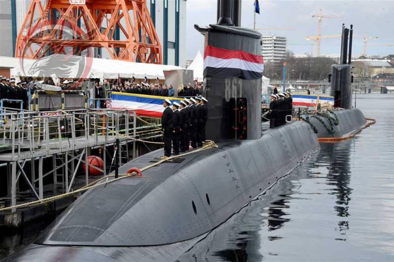 ВМС Египта получили первую подлодку германской постройки