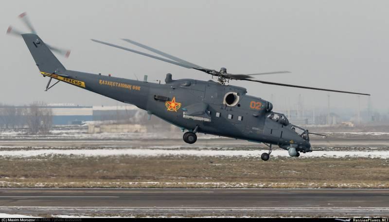 СМИ: Минобороны Казахстана получило первые вертолеты Ми-35М