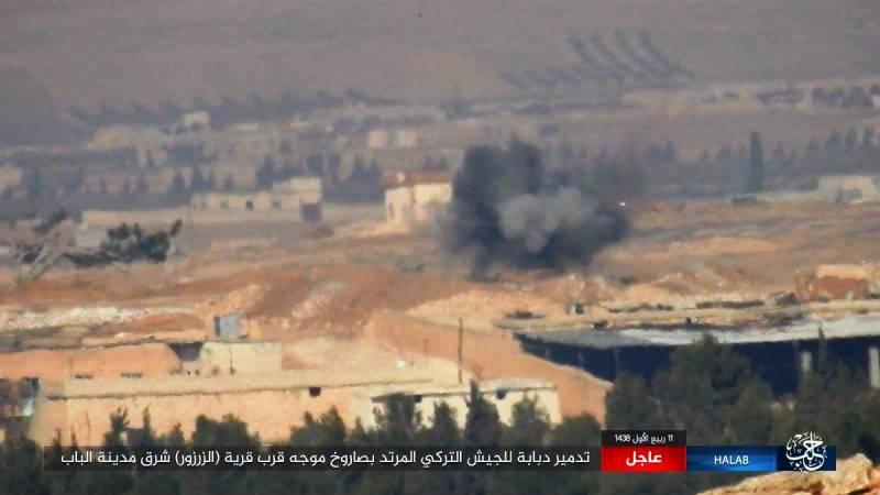 В Сирии подбит турецкий танк Leopard 2