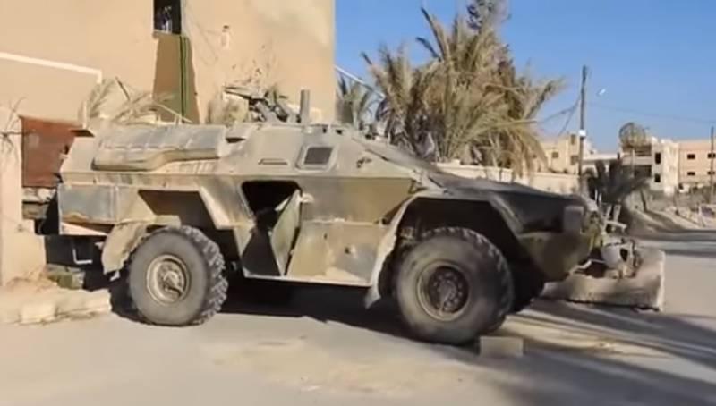 Бронемашина «Дозор» в руках террористов (видео)