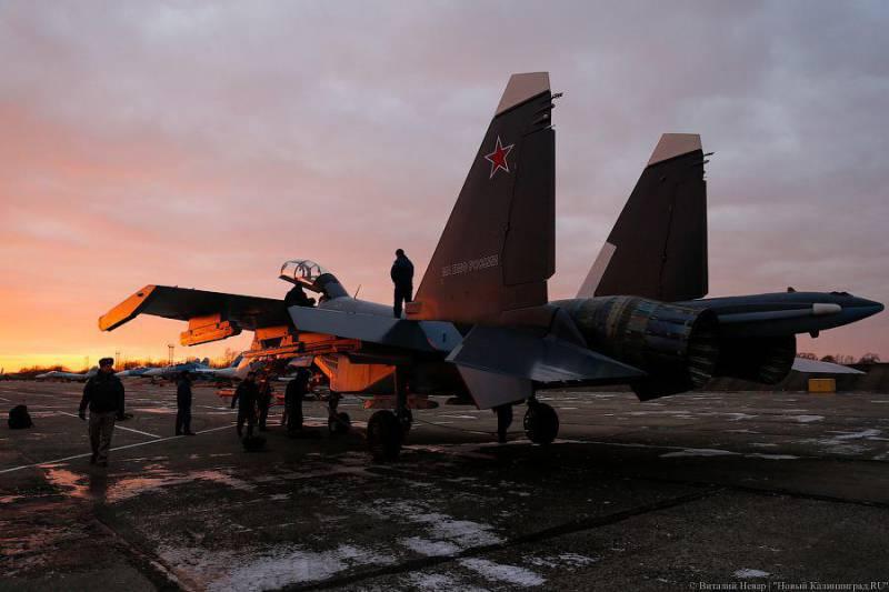 Первый Су-30СМ прибыл на аэродром Черняховск