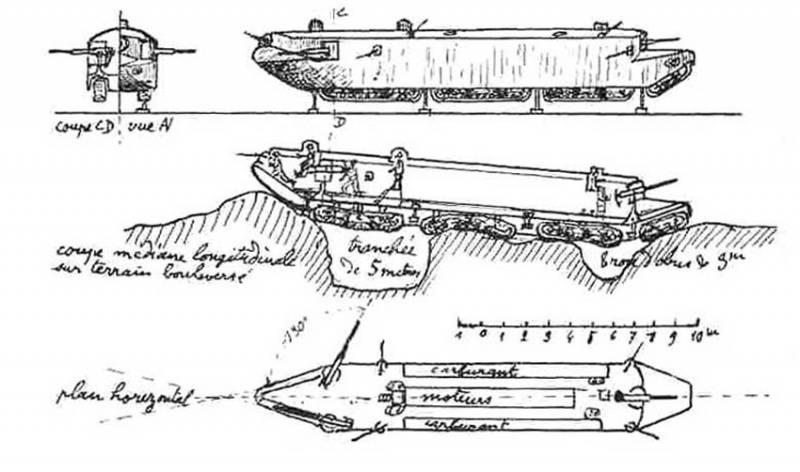 Проект тяжелого танка Ansaldo Torpedino (Италия)