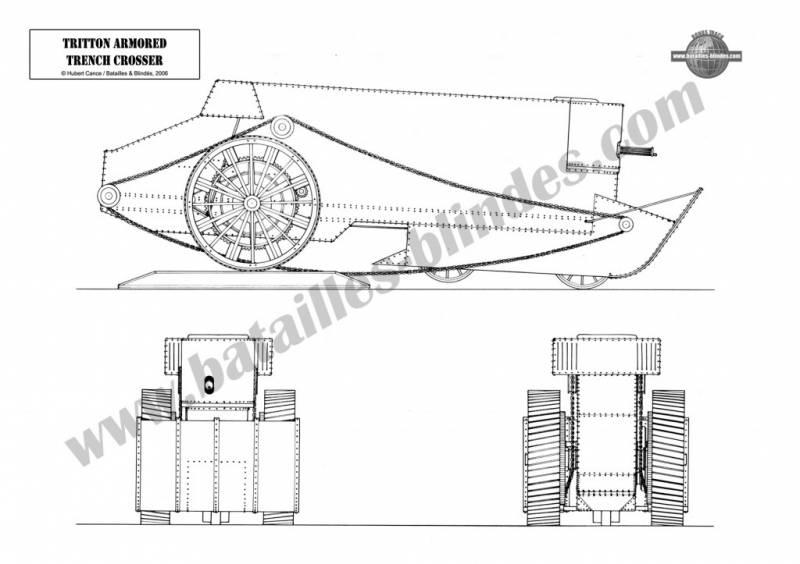 Экспериментальный вездеход Tritton Trench Crosser (Великобритания)