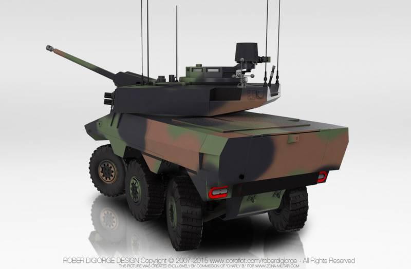 Французская боевая разведывательная бронемашина Jaguar