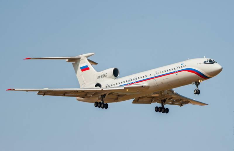 На поверхности Чёрного моря обнаружены фрагменты упавшего Ту-154 МО РФ