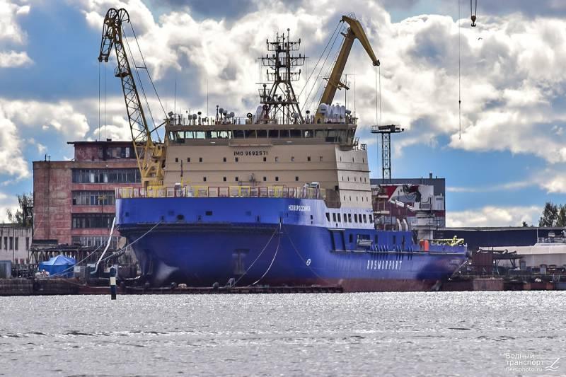 «Росморпорту» будет передан новый ледокол «Новороссийск»