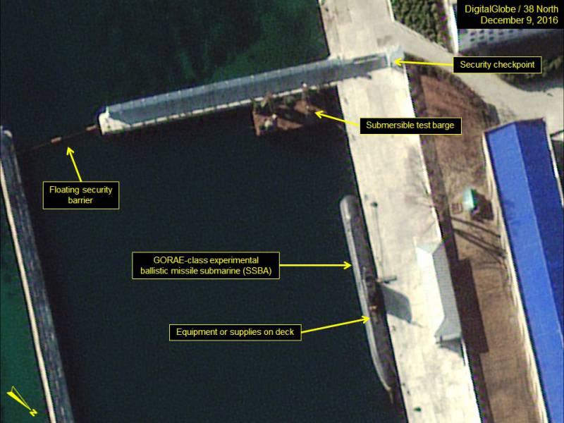 «Загадочная» северокорейская подлодка готовится к выходу в море?