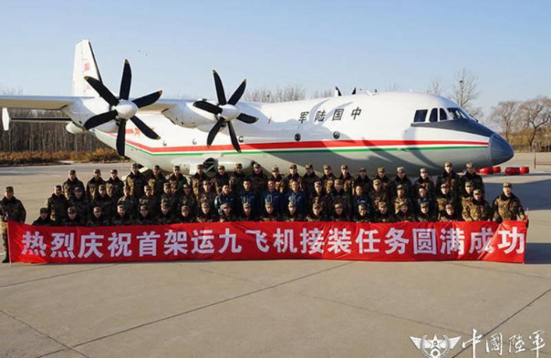 Китайским ВВС передан первый транспортный самолёт Y-9