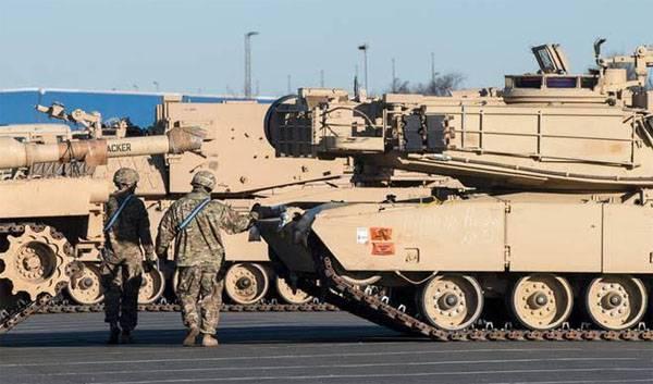Американские танки для стран Балтии прибыли вГерманию
