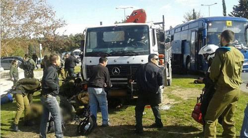 Теракт в Иерусалиме. Террорист использовал автокран