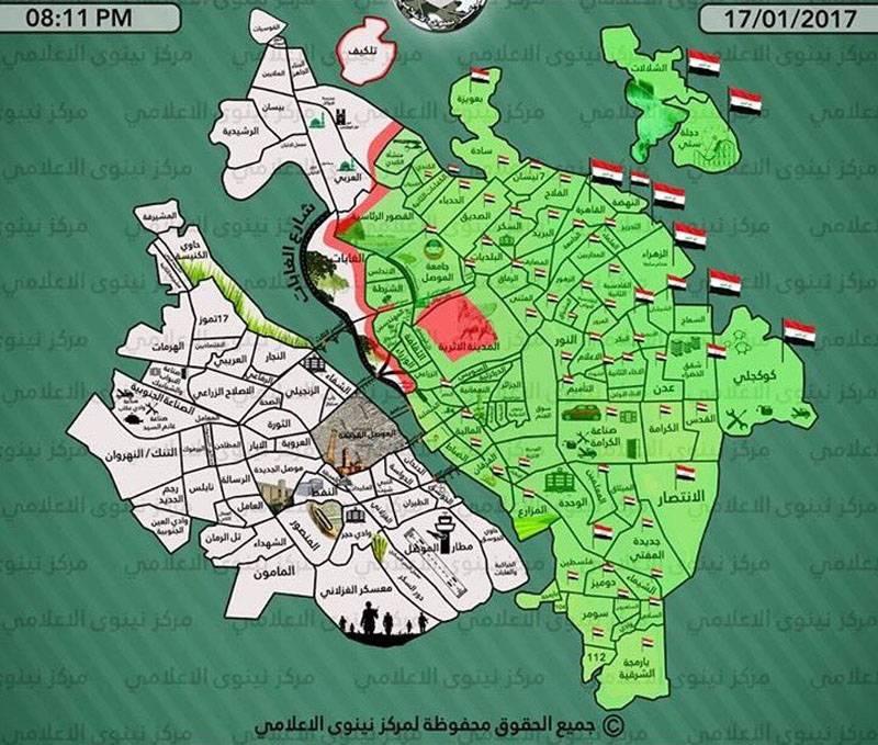 Официальный Багдад заявил об освобождении восточной части Мосула