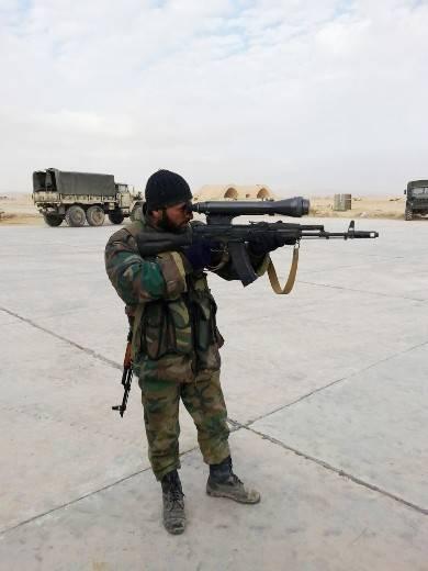 В Сирии появились автоматы АК-74Н2 с ночными прицелами НСПУМ