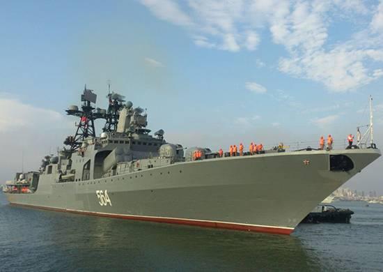 Русские боевые корабли проводят общие учения вЯпонии