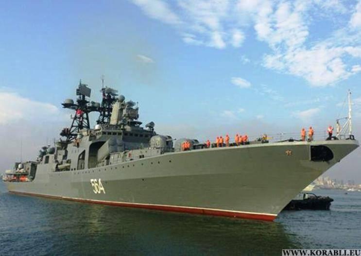 На прибывшем в Японию корабле «Адмирал Трибуц» проведён день открытых дверей