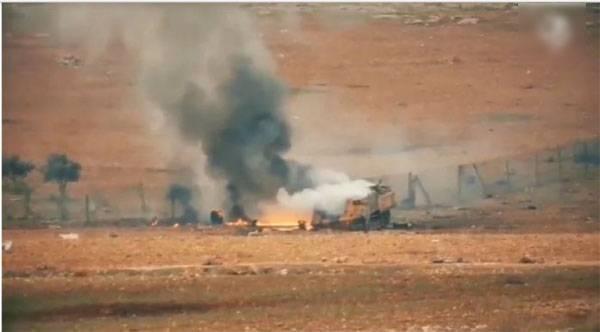 Танки ВС Турции были остановлены боевиками ИГ в районе Эль-Баба