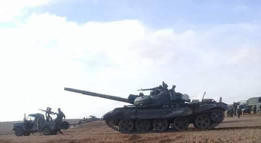 Т-62М в боях у Пальмиры