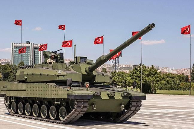 Турецкий танк Altay подбит санкциями