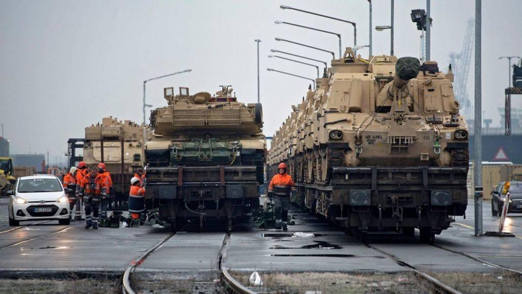 Американские танки врезались вмосты попути изФРГ вПольшу