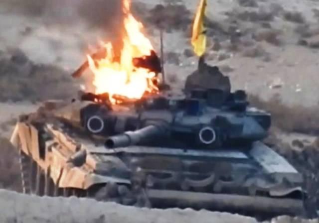 В Сирии подбит Т-90 (видео)