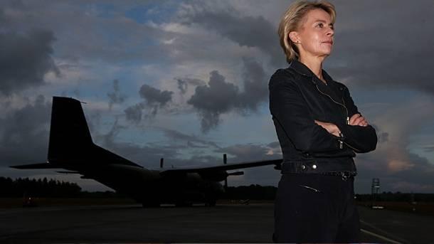 А министр обороны Германии против...