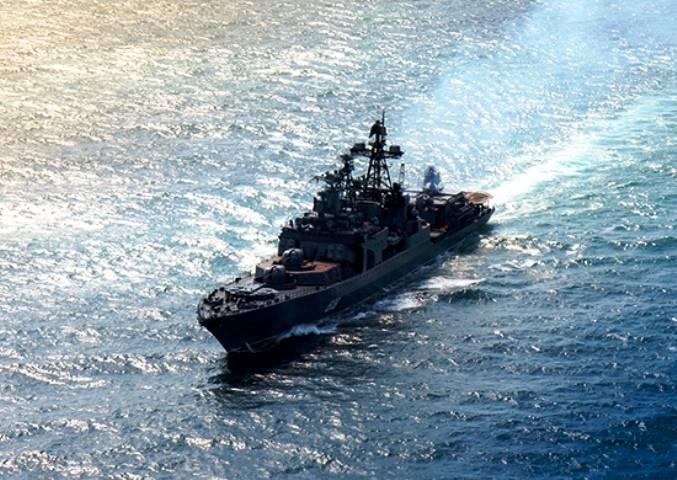 БПК «Североморск» совершил переход в Красное море