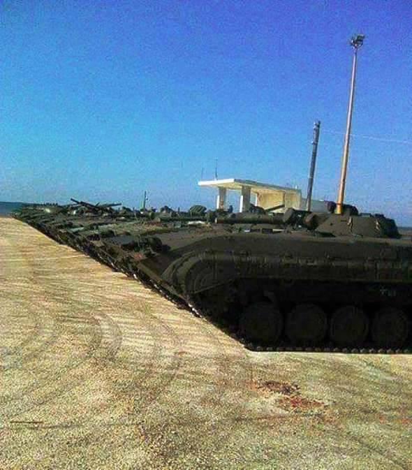 «Сирийский экспресс» доставил очередную партию БМП-1 в Тартус
