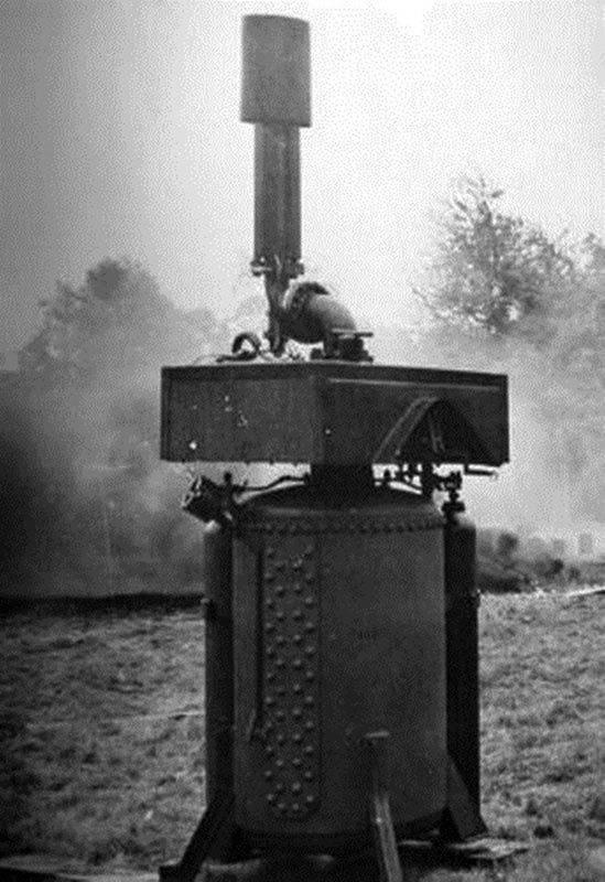 Проект зенитного огнемета Naval pattern vertical firing flamethrower (Великобритания)