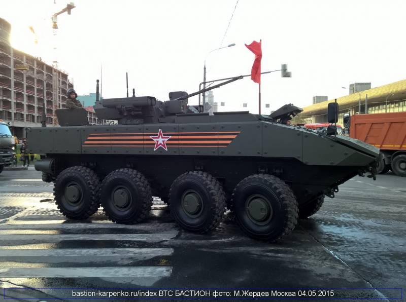 Перспективный БТР «Бумеранг» по огневой мощи будет соответствовать колёсному БМП